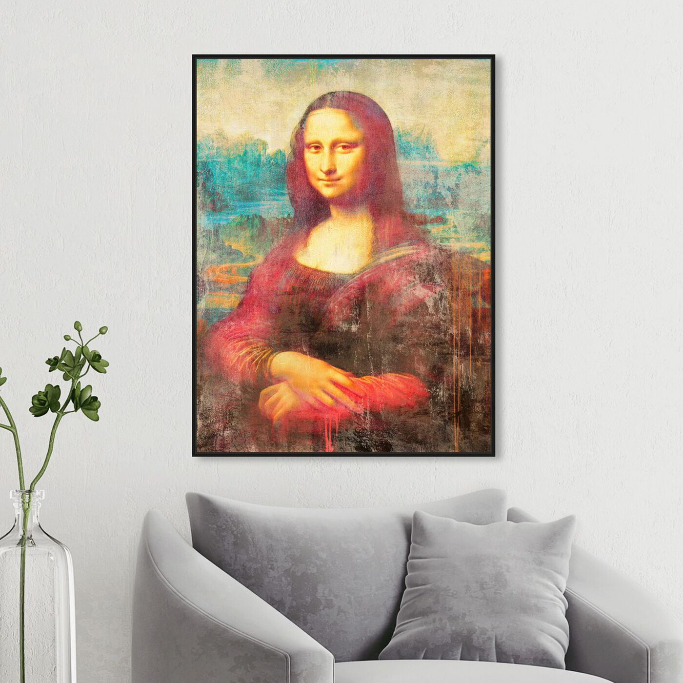 Hanging view of SAI - Mona de Rouge featuring classic and figurative and renaissance art.