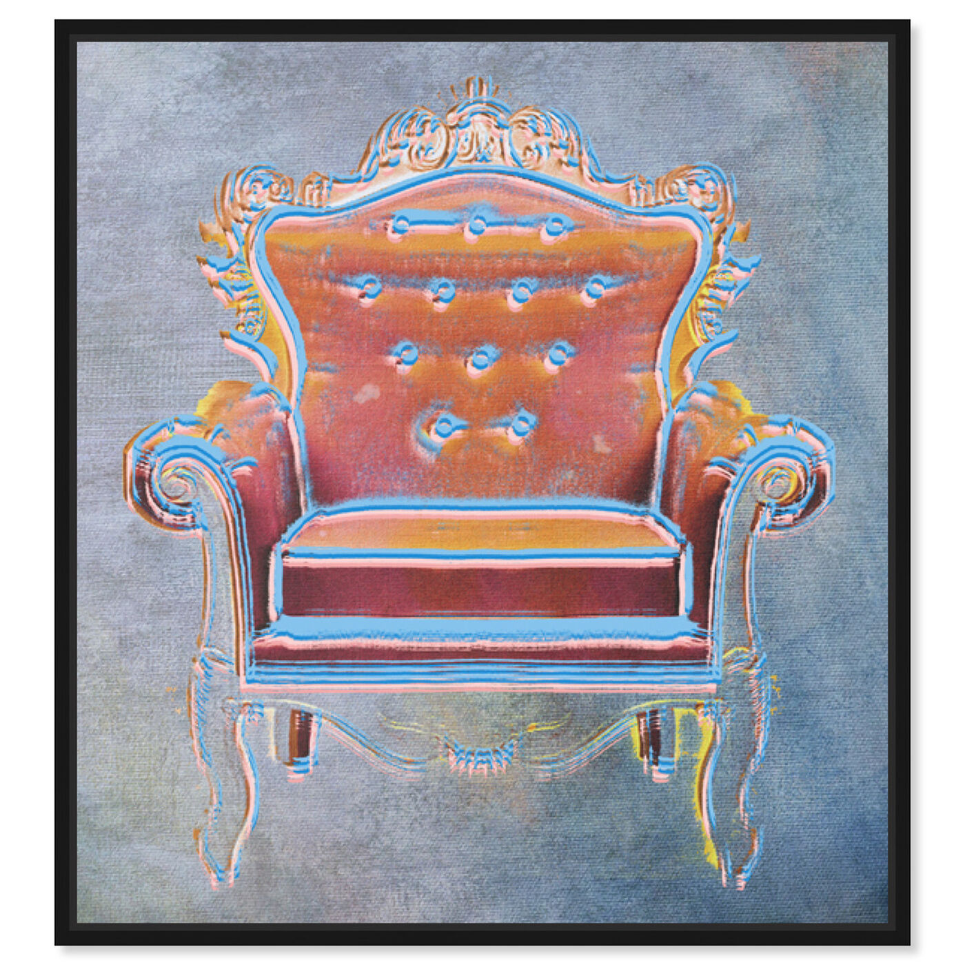 Front view of The Throne II featuring fashion and glam and lifestyle art.