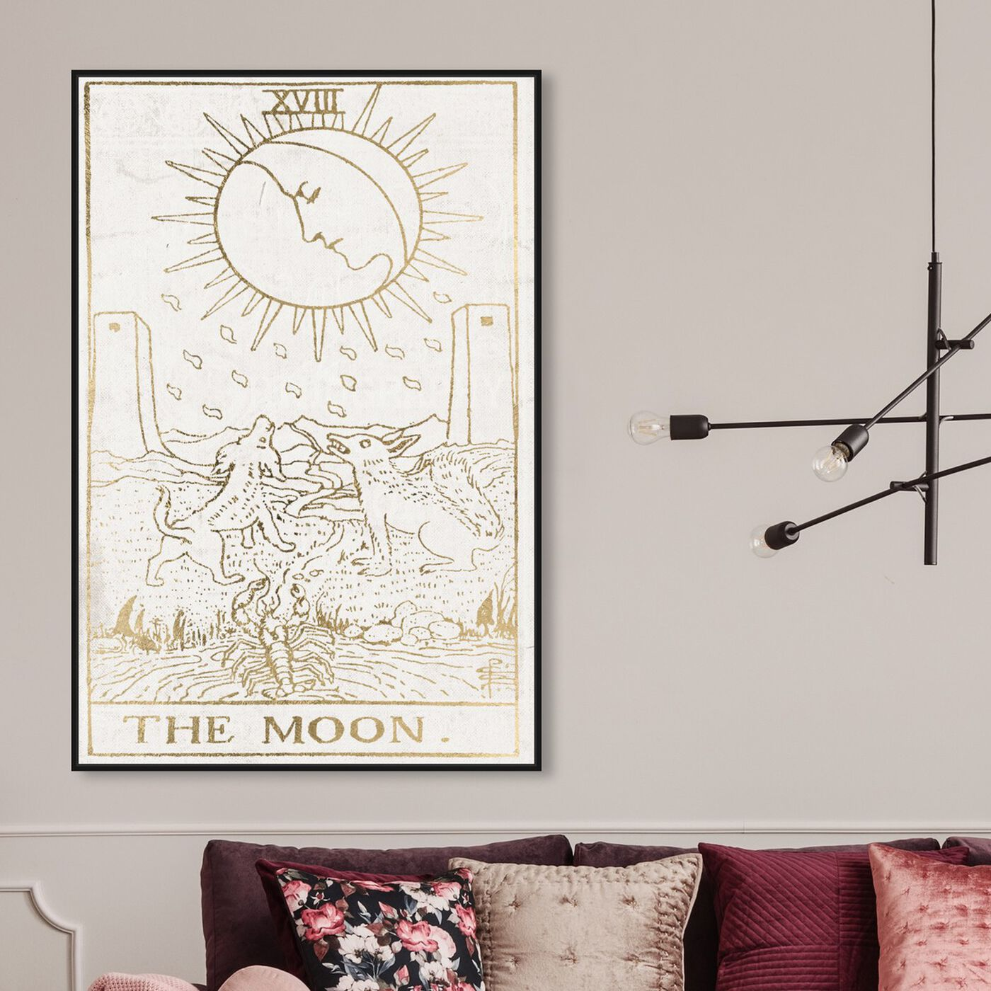 Hanging view of The Moon Tarot Luxe featuring spiritual and religious and astrology art.