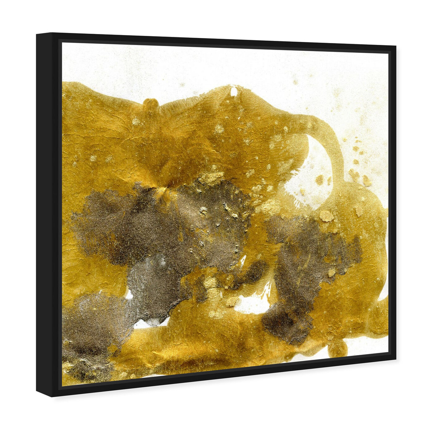 Angled view of Gold Dust - Signature Collection featuring abstract and textures art.