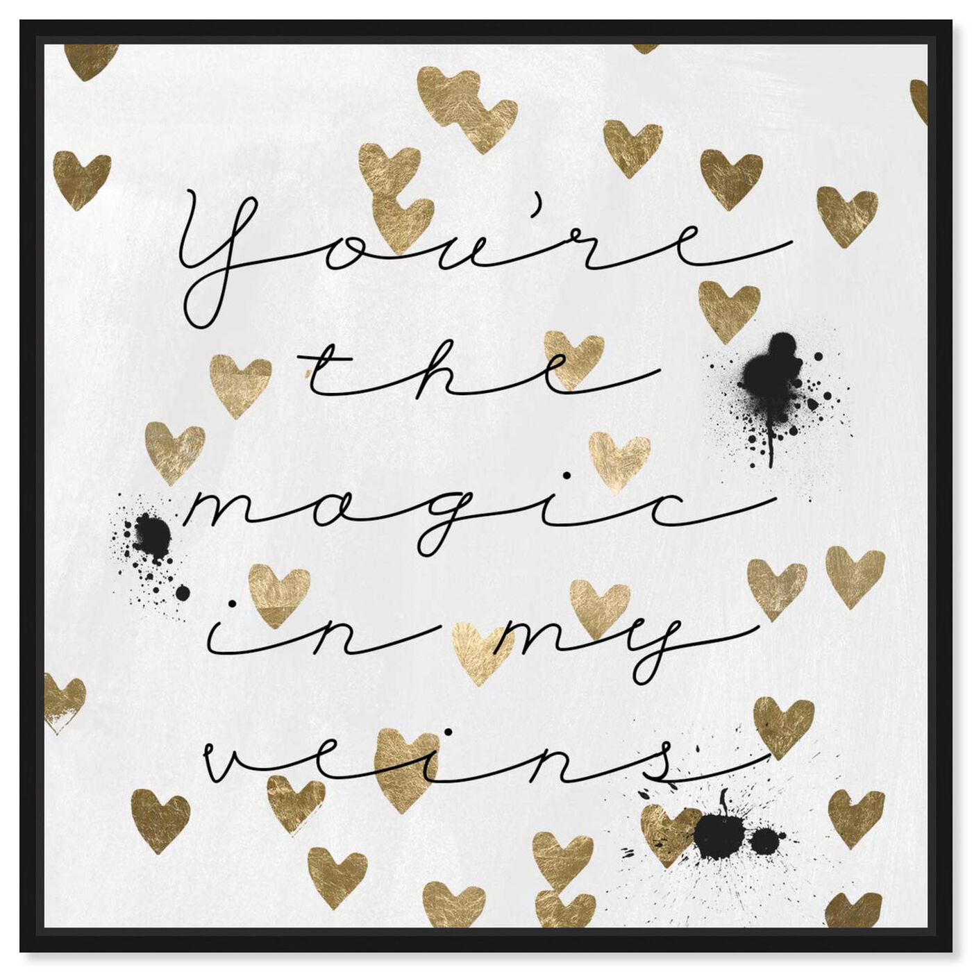 Front view of Magic in Me featuring typography and quotes and love quotes and sayings art.