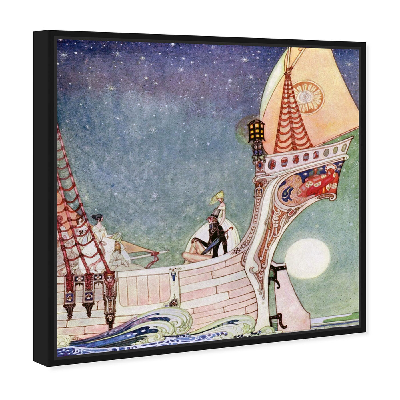 Angled view of Magical Boat featuring fantasy and sci-fi and fairy tales art.