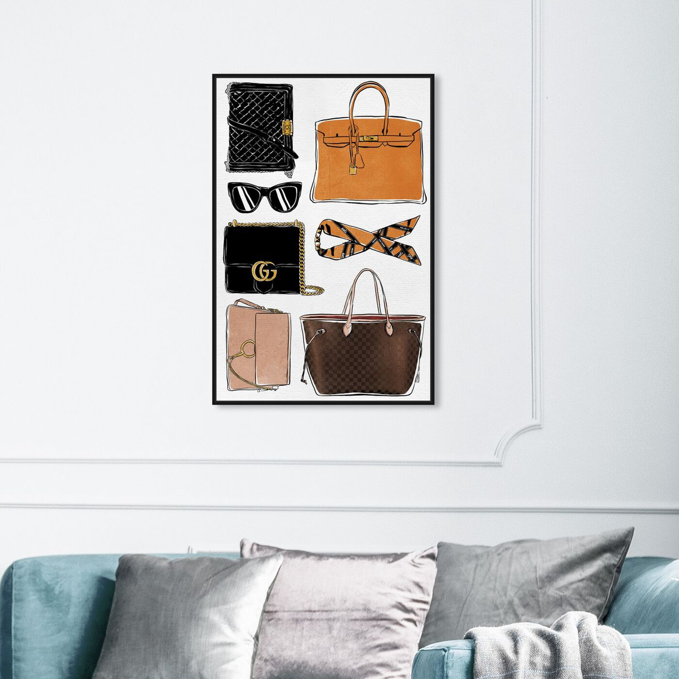 Hanging view of My Purse Collection featuring fashion and glam and handbags art.