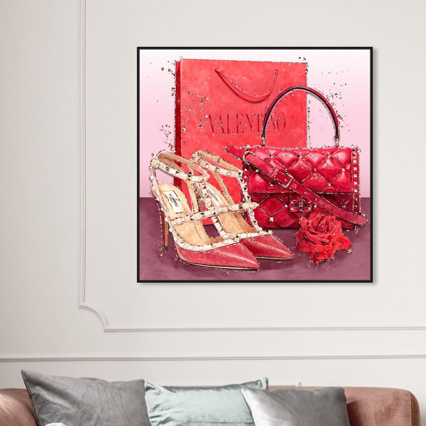 Hanging view of Passion Red Valentine featuring fashion and glam and shoes art.