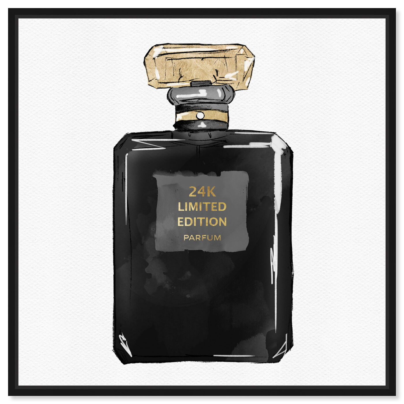Front view of Dark Perfume Gold featuring fashion and glam and perfumes art.