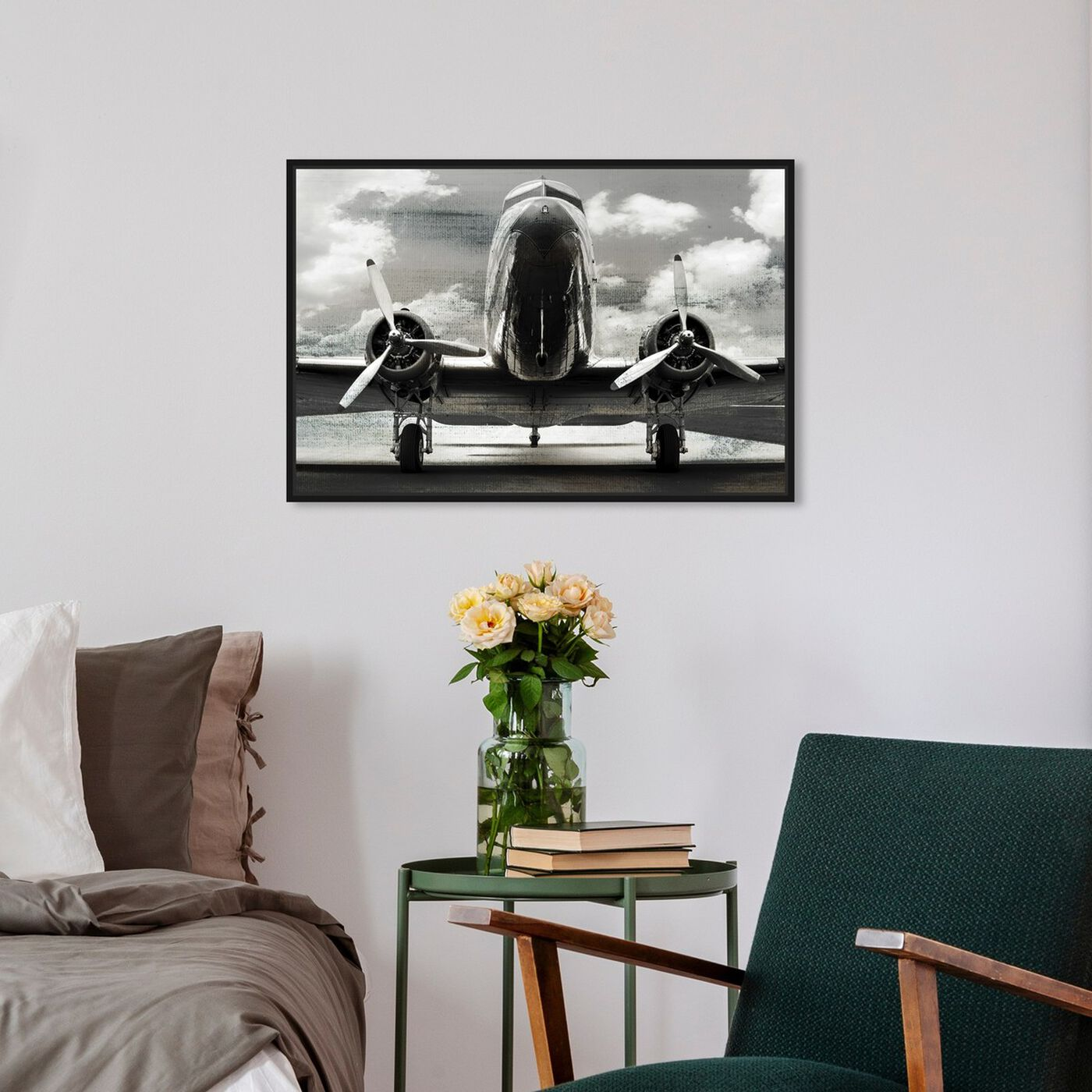 Hanging view of SAI - AEROPLANO featuring transportation and airplanes art.