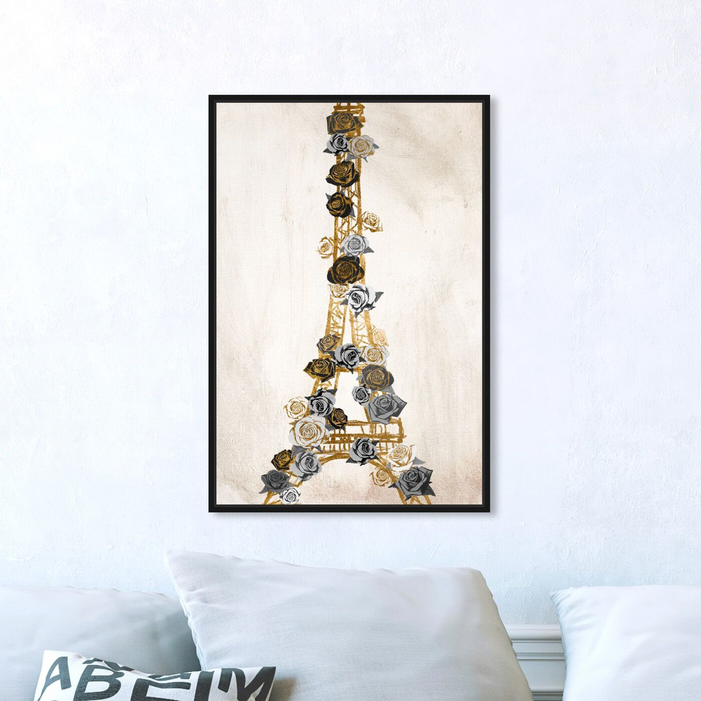 Hanging view of Lattice Luxe featuring floral and botanical and florals art.