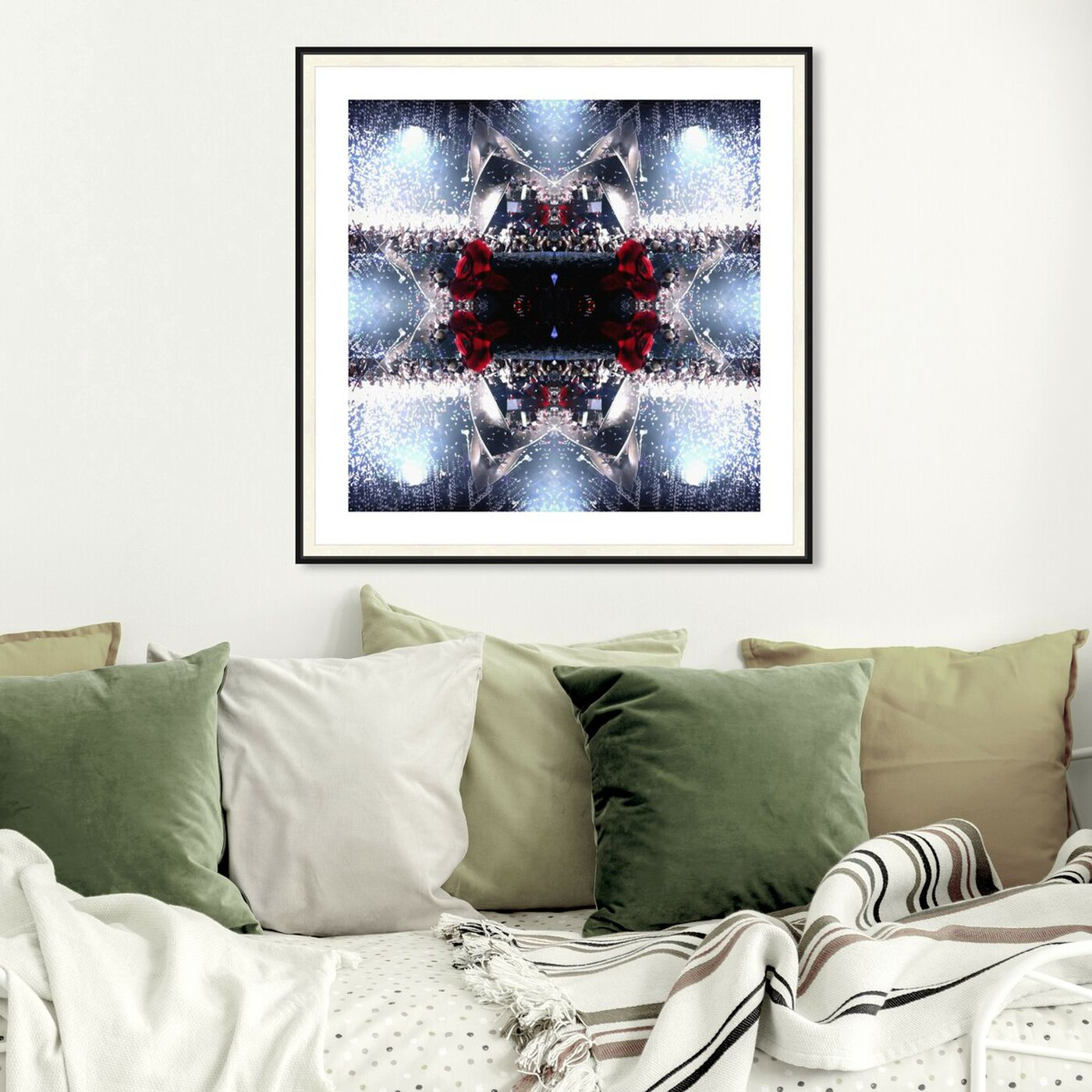 Hanging view of Blooming Disco Nights featuring abstract and textures art.