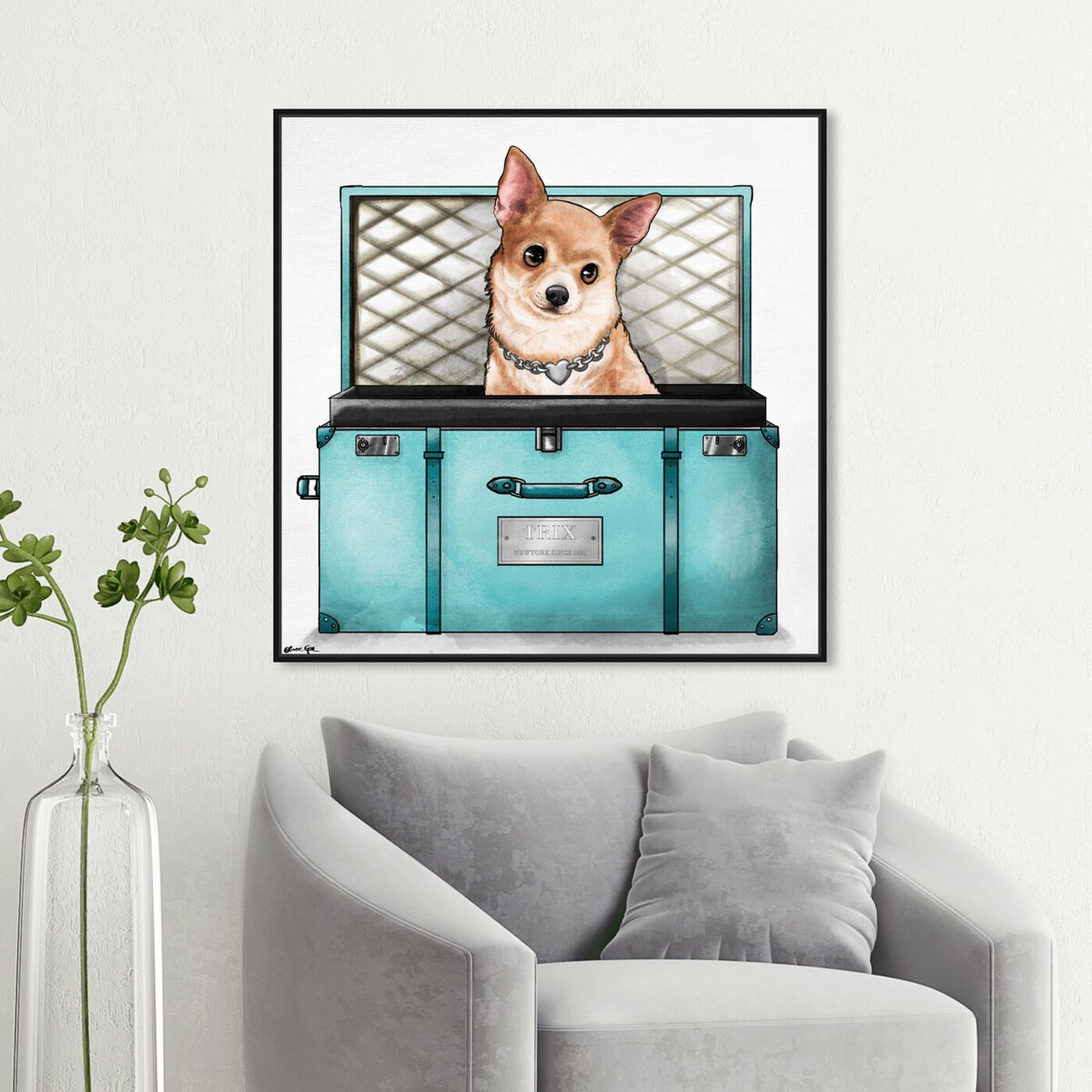 Hanging view of Glam Traveler featuring fashion and glam and travel essentials art.