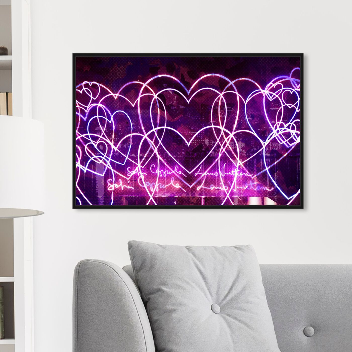 Hanging view of Love Madness featuring fashion and glam and hearts art.