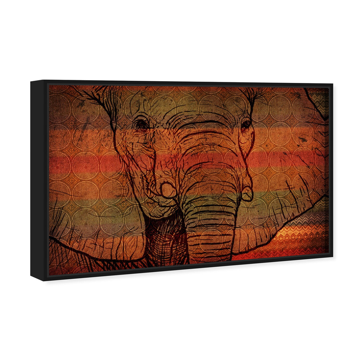 Angled view of The Desert Elephant of Mali featuring animals and zoo and wild animals art.