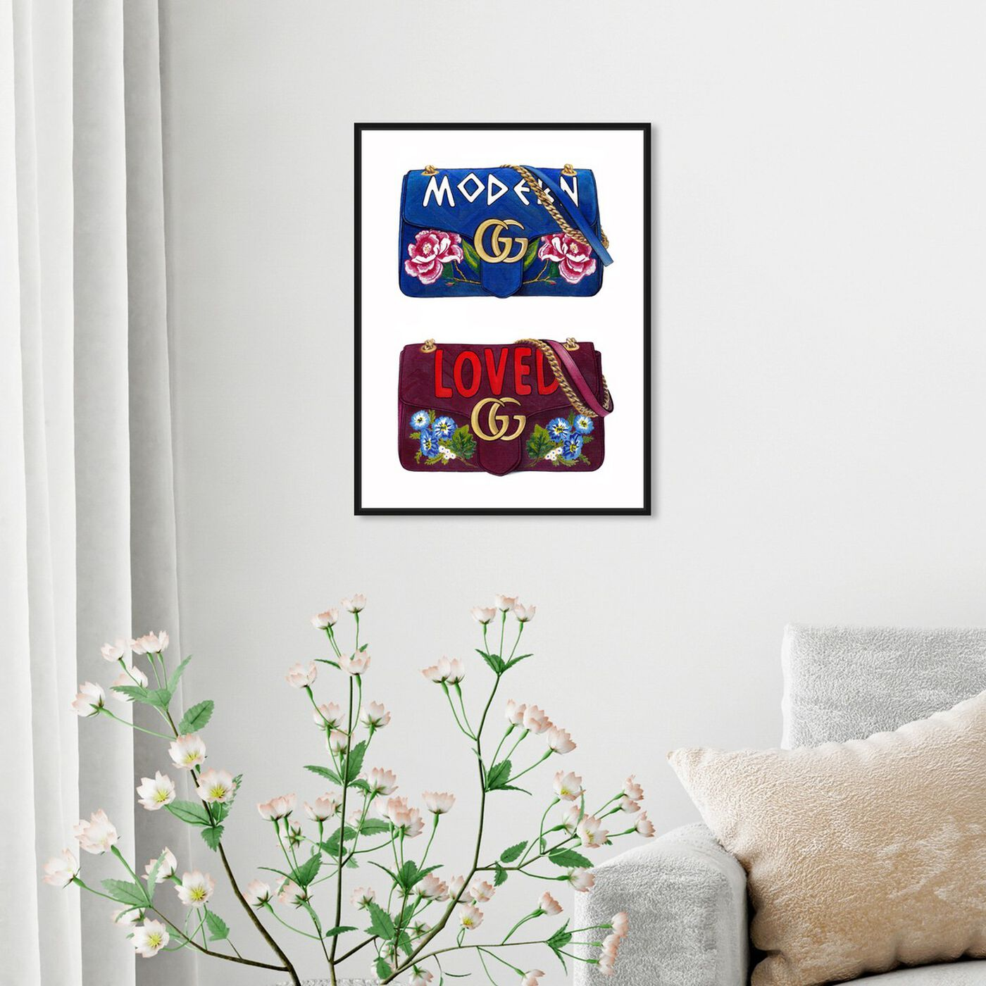Hanging view of Doll Memories - Lover featuring fashion and glam and handbags art.