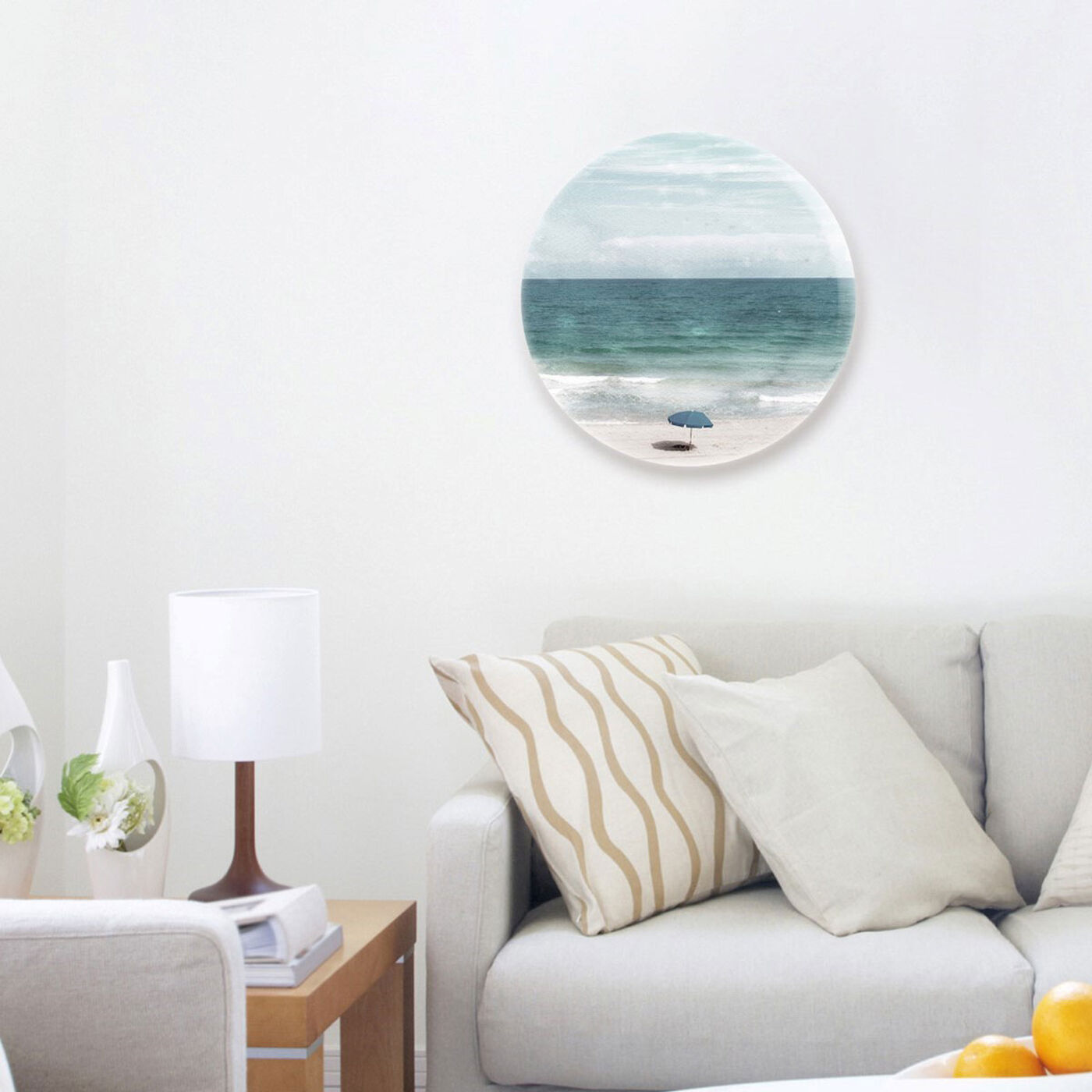 Hanging view of Under The Sun Circle featuring nautical and coastal and coastal art.