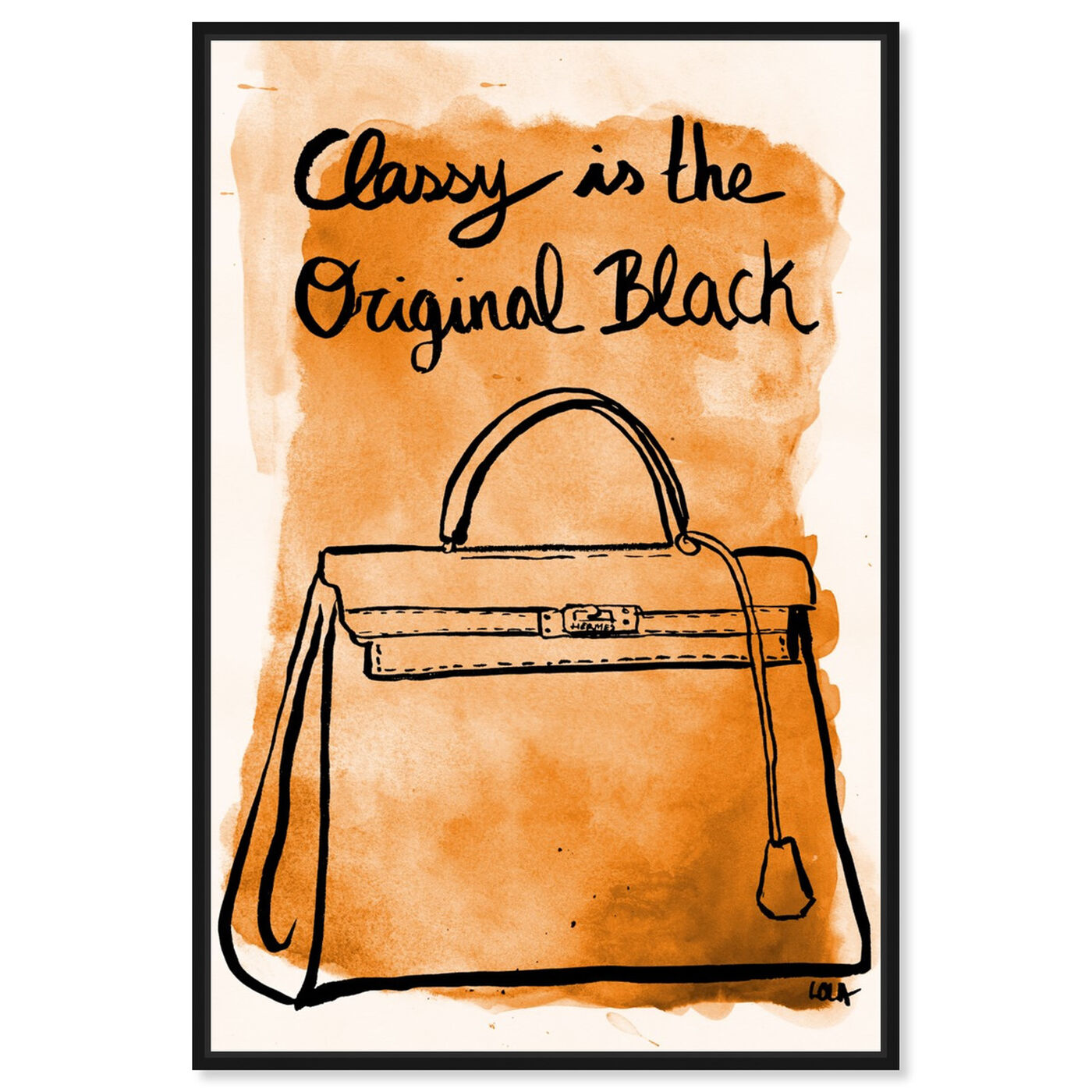 Front view of The Original Black featuring fashion and glam and handbags art.