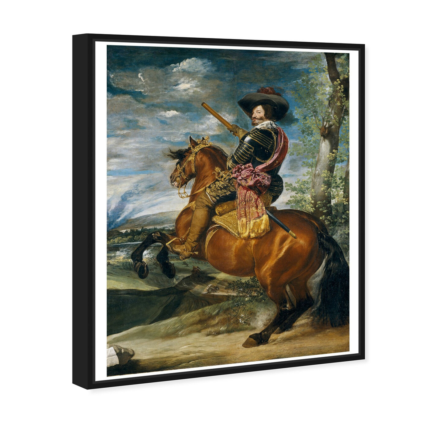 Angled view of Velazquez - Count Duke of Olivares featuring classic and figurative and renaissance art.