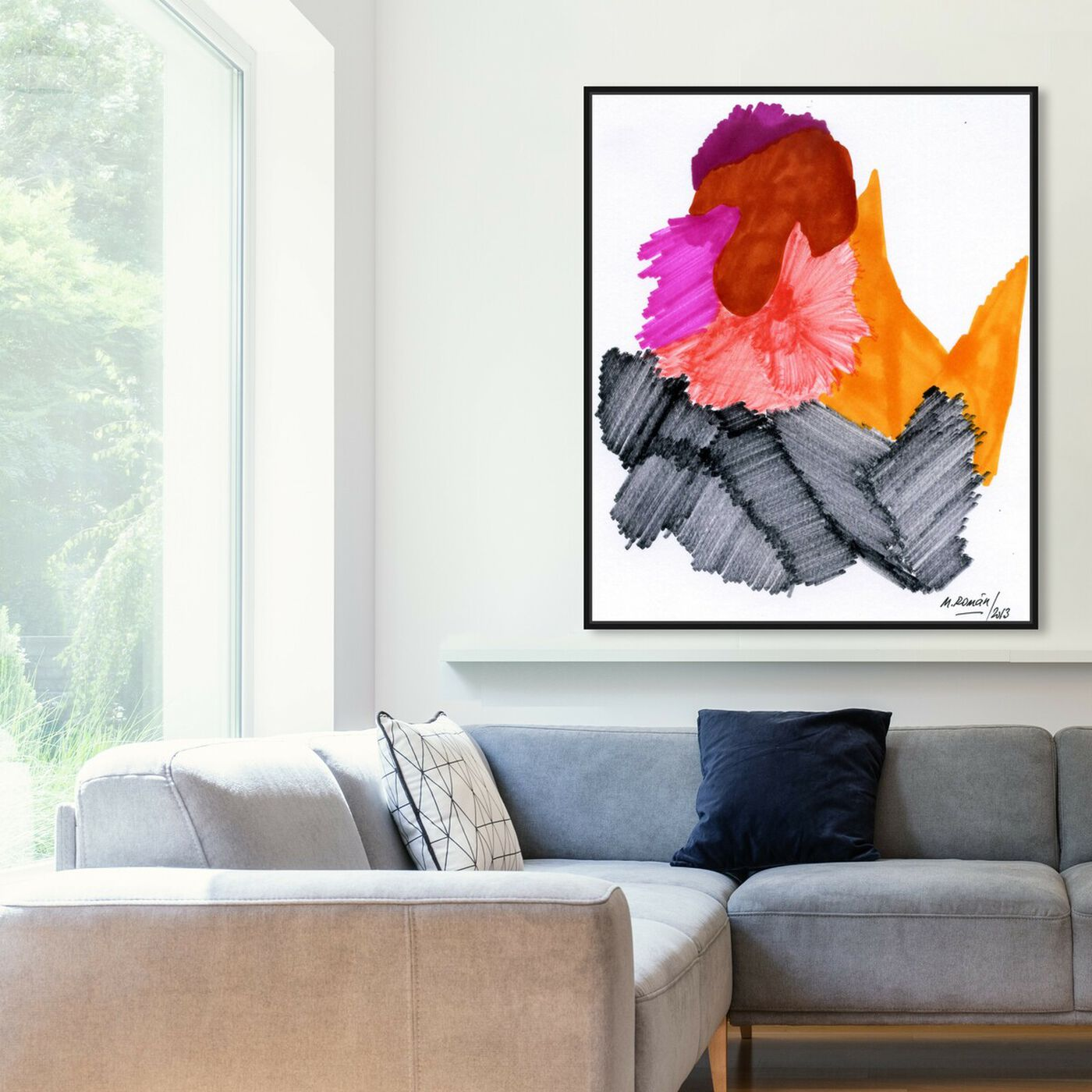 Hanging view of Passion Flare featuring abstract and paint art.