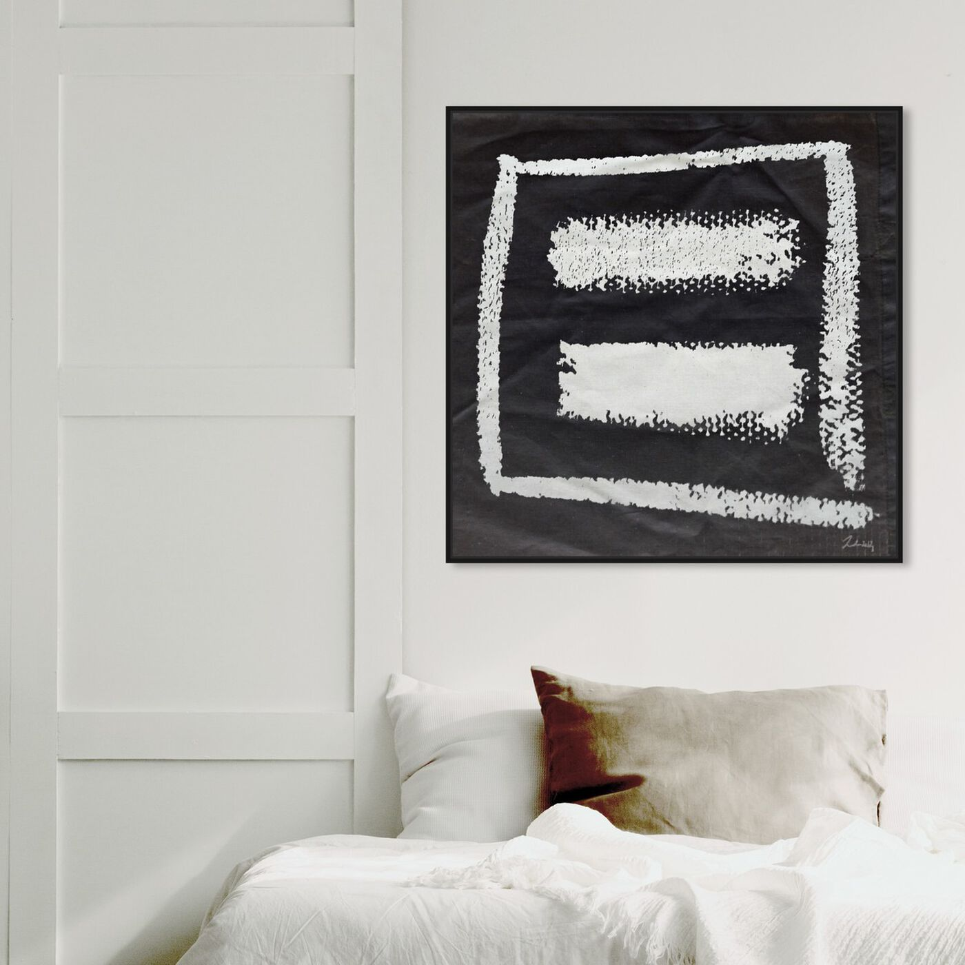 Hanging view of Equal Love featuring abstract and paint art.