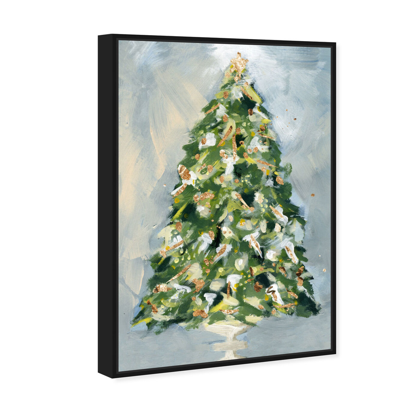 Angled view of Christmas Tree 3 featuring holiday and seasonal and holidays art.