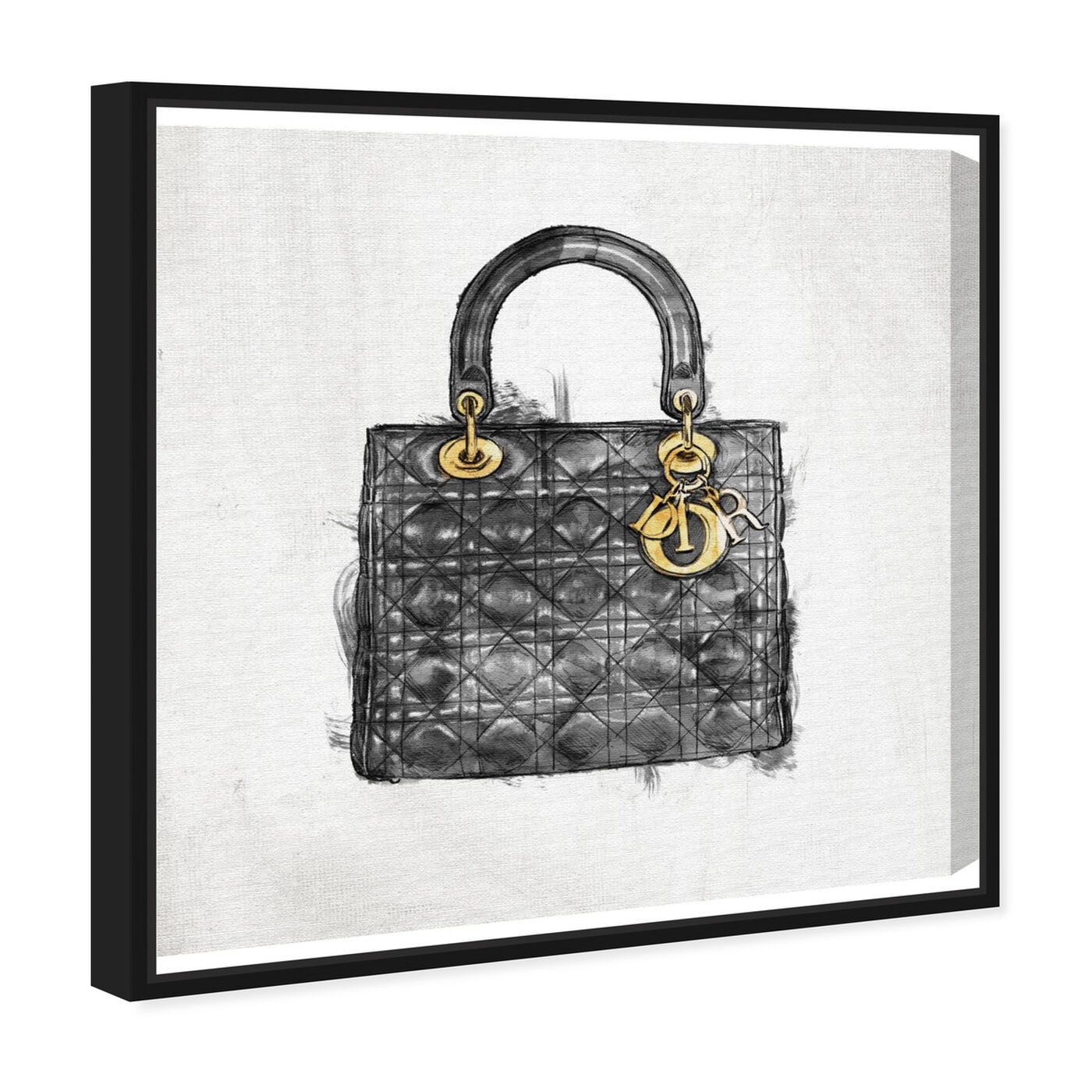 Angled view of Christian's Essentials Black featuring fashion and glam and handbags art.