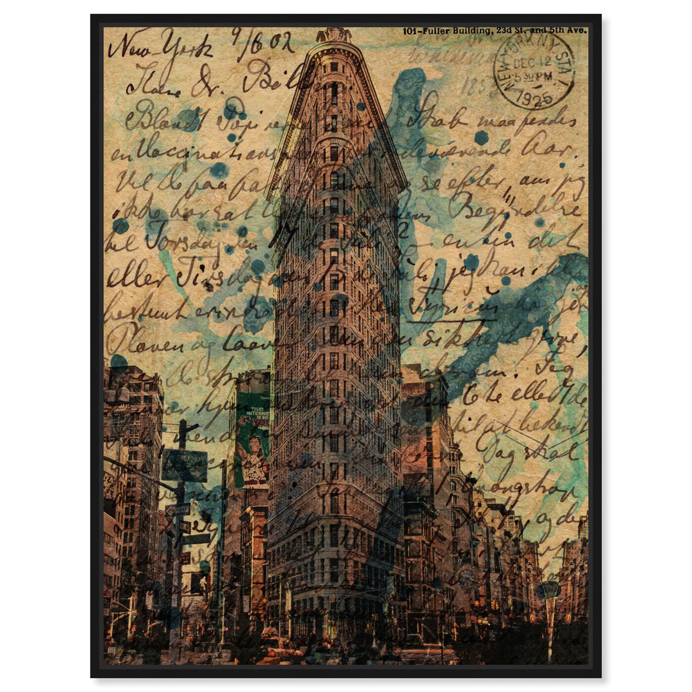Front view of Flat Iron featuring architecture and buildings and united states buildings art.