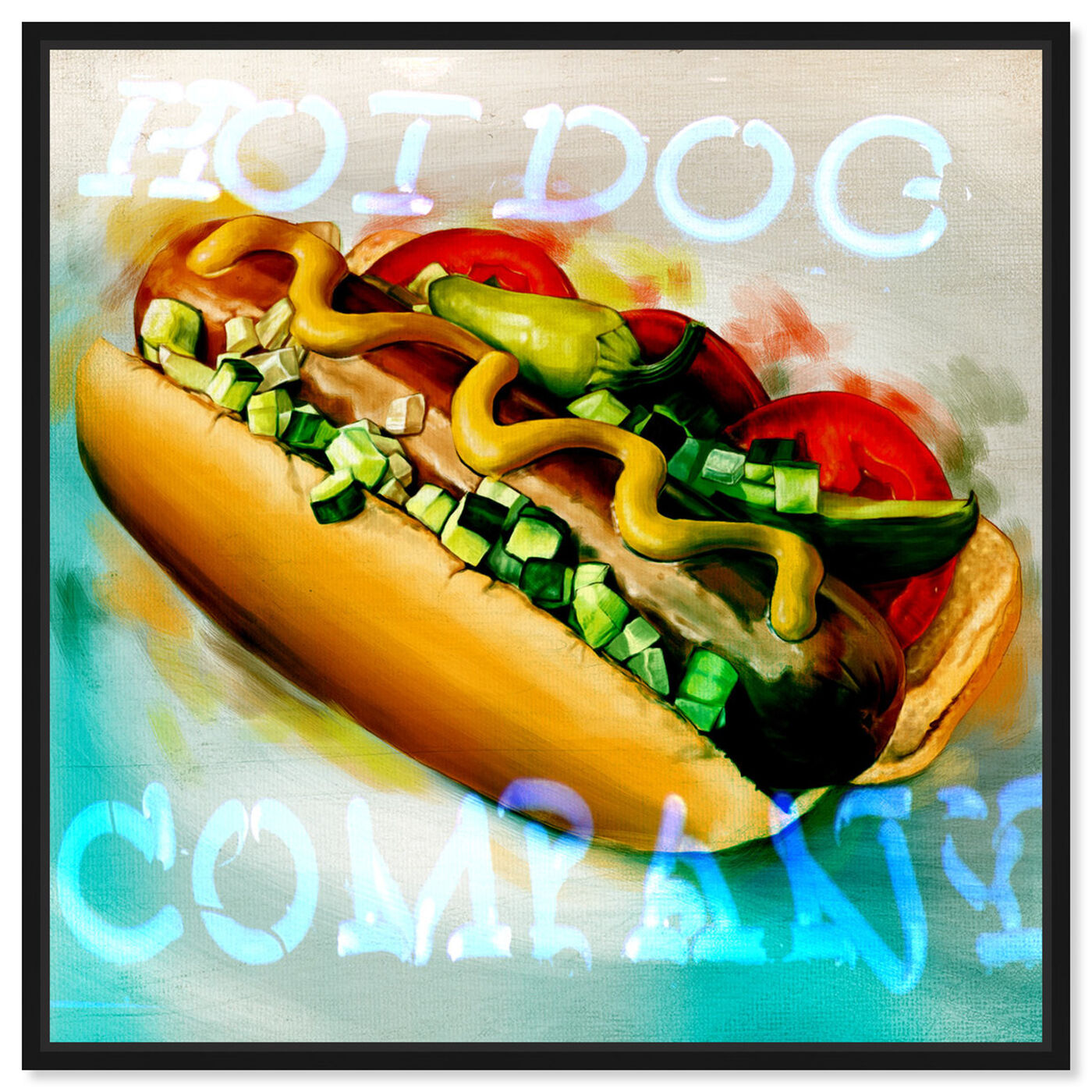 Front view of Hot Dog Company featuring food and cuisine and fast food art.