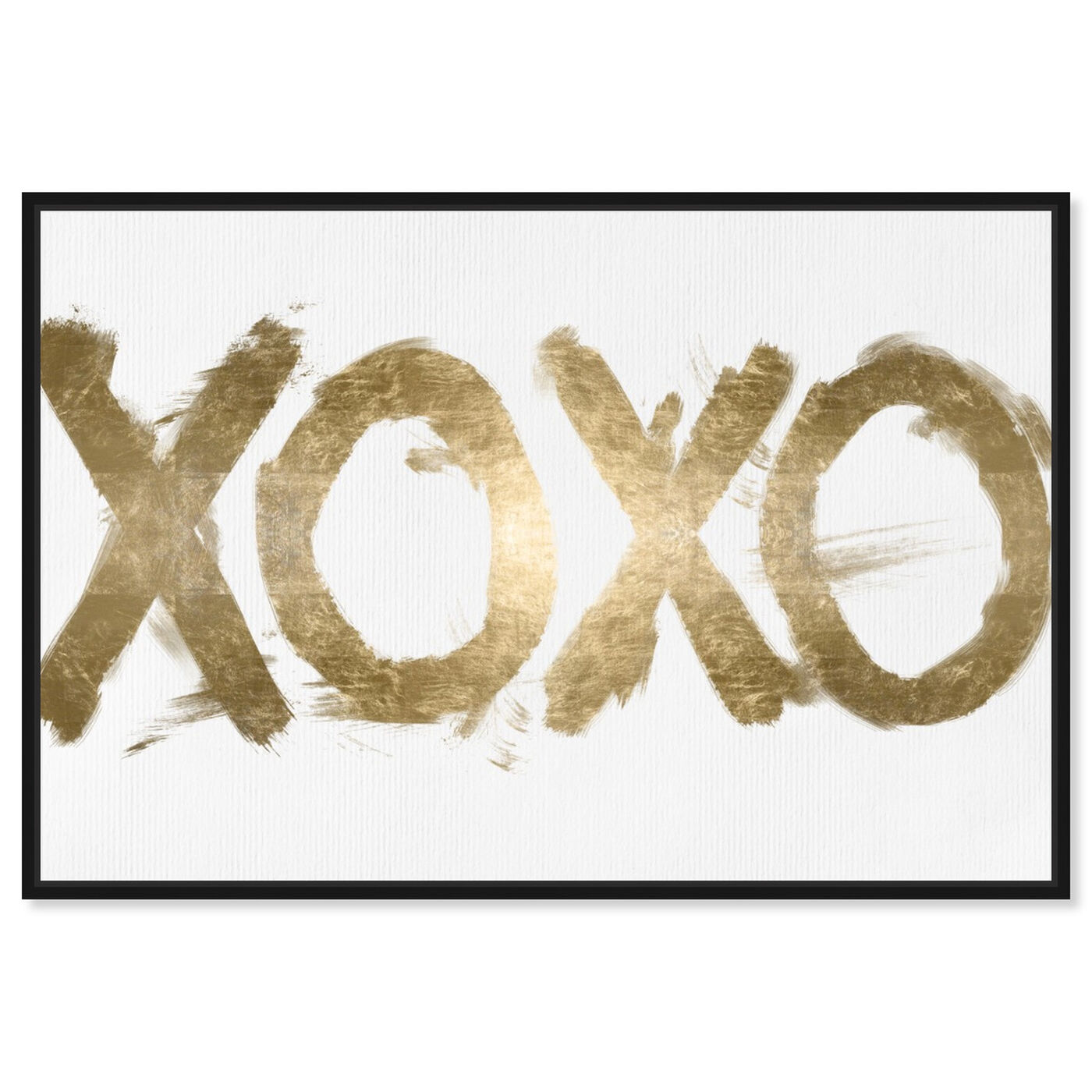 Front view of XOXO Solid I featuring typography and quotes and signs art.