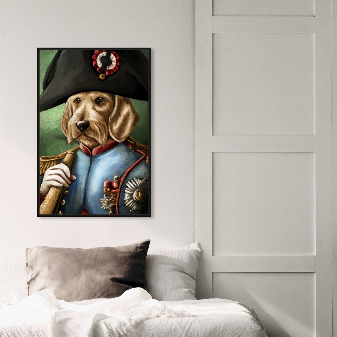 Hanging view of Sargent Wired Dashchund featuring animals and dogs and puppies art.