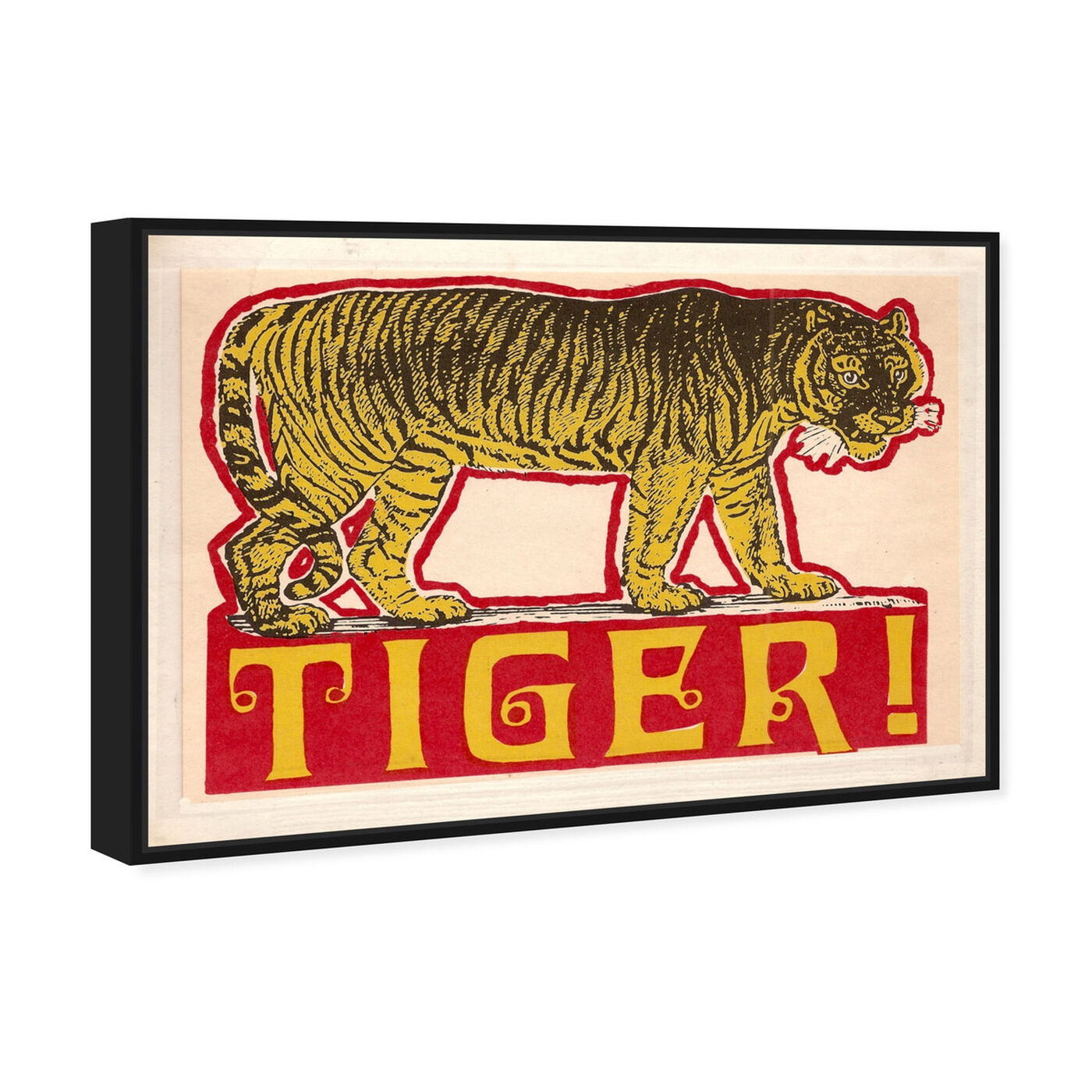 Angled view of Indian Tiger featuring advertising and posters art.