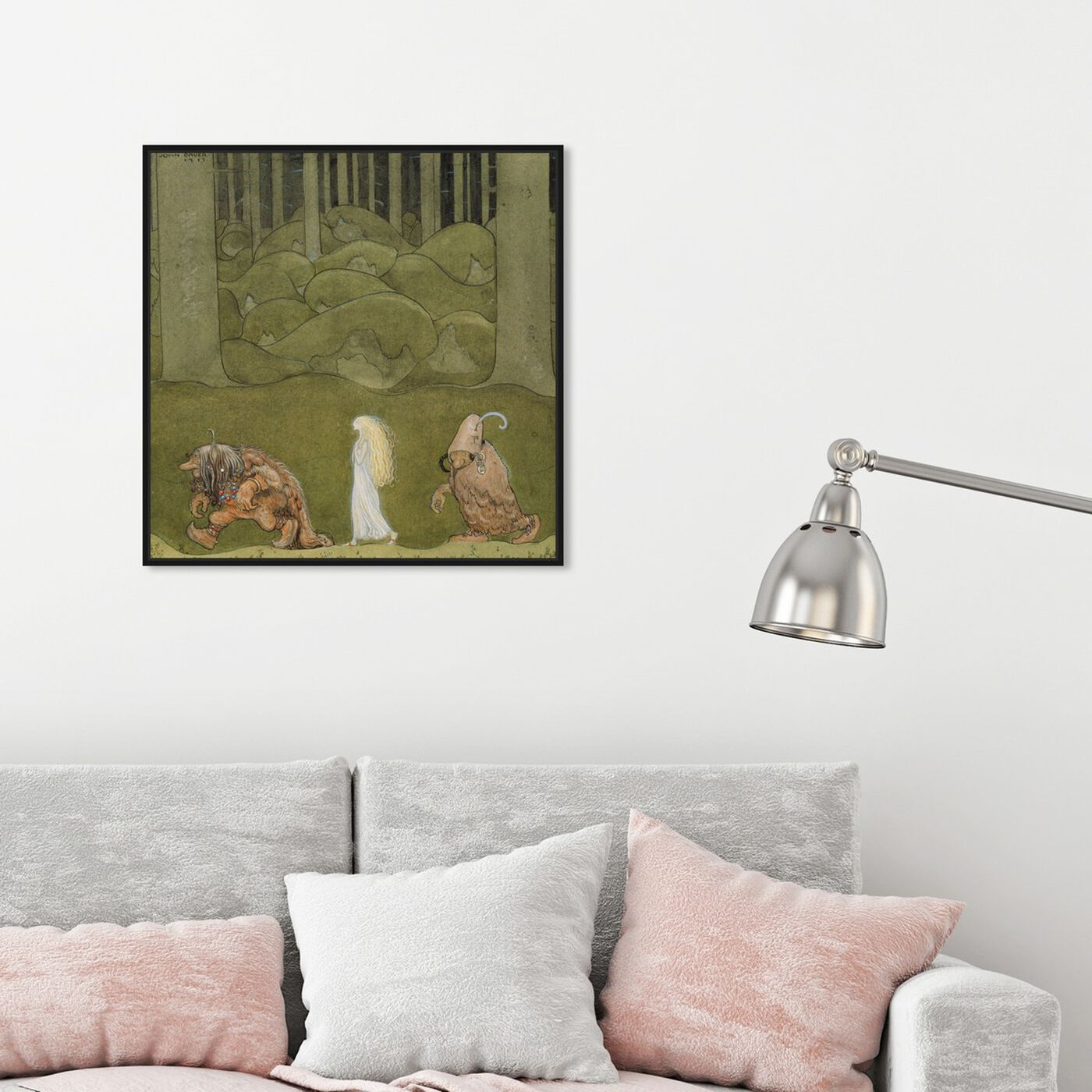 Hanging view of The Princess and her Friends featuring fantasy and sci-fi and fairy tales art.
