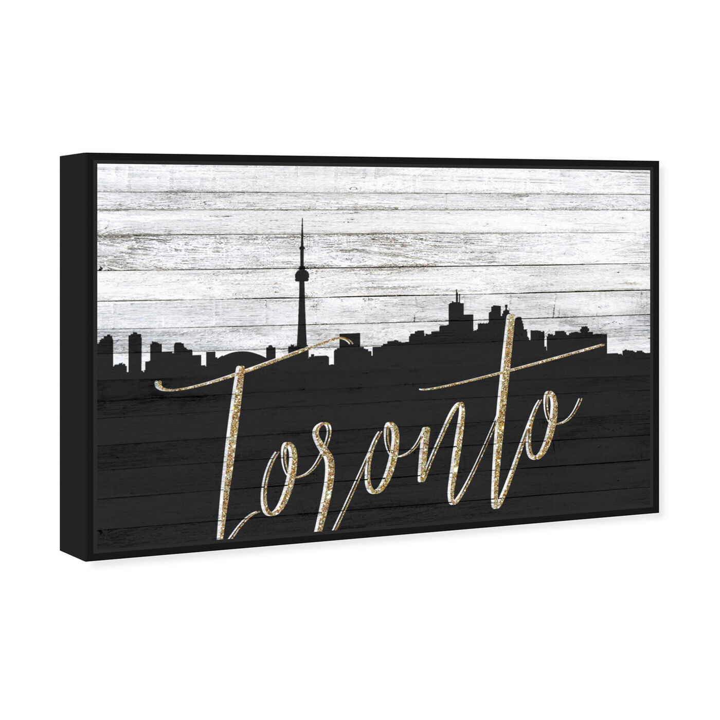 Angled view of Toronto Skyline featuring cities and skylines and north american cities art.