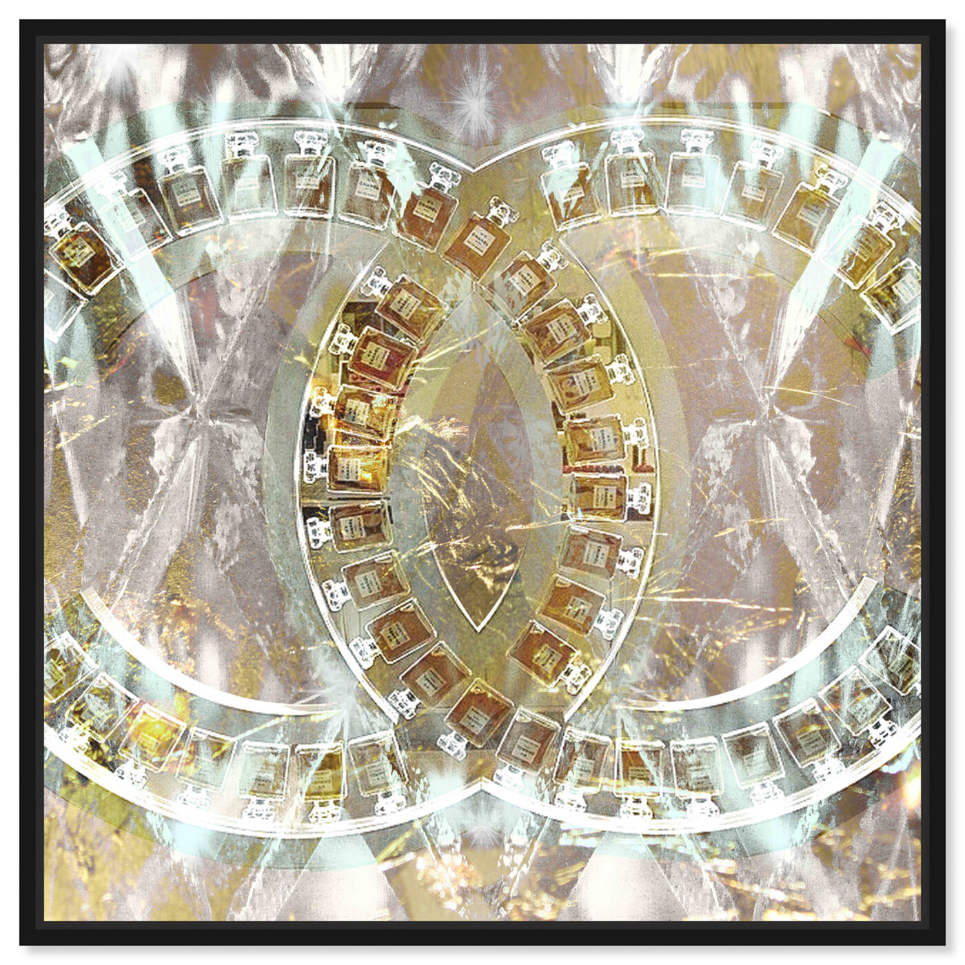 Front view of Gilded Diamonds featuring fashion and glam and perfumes art.