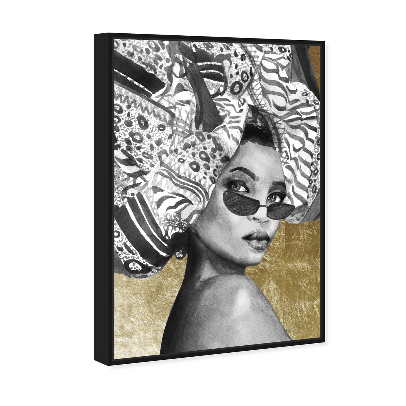 Angled view of Goddess of Tigris featuring fashion and glam and portraits art.