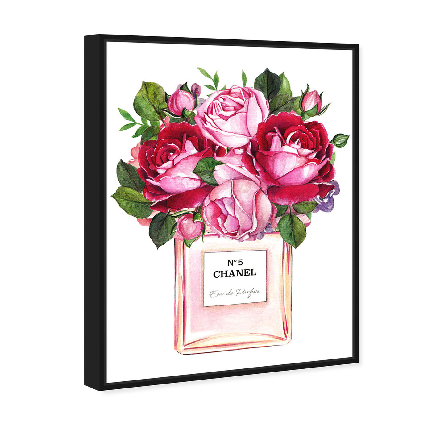 Angled view of Doll Memories - Roses Scent featuring fashion and glam and perfumes art.