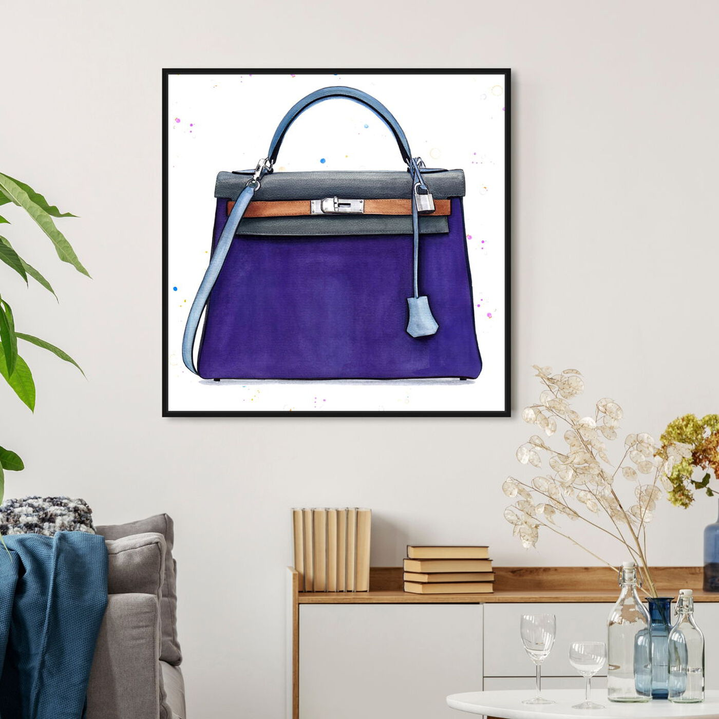 Hanging view of Doll Memories - Violet featuring fashion and glam and handbags art.