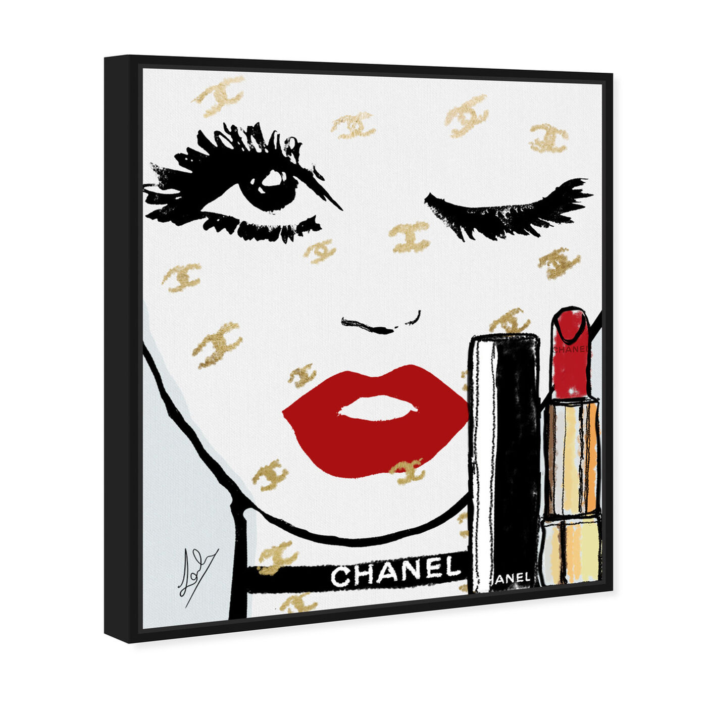 Angled view of Le Rouge Face featuring fashion and glam and portraits art.