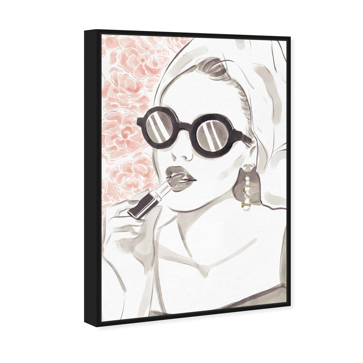 Angled view of Sunglasses Bomb Beauty featuring fashion and glam and portraits art.