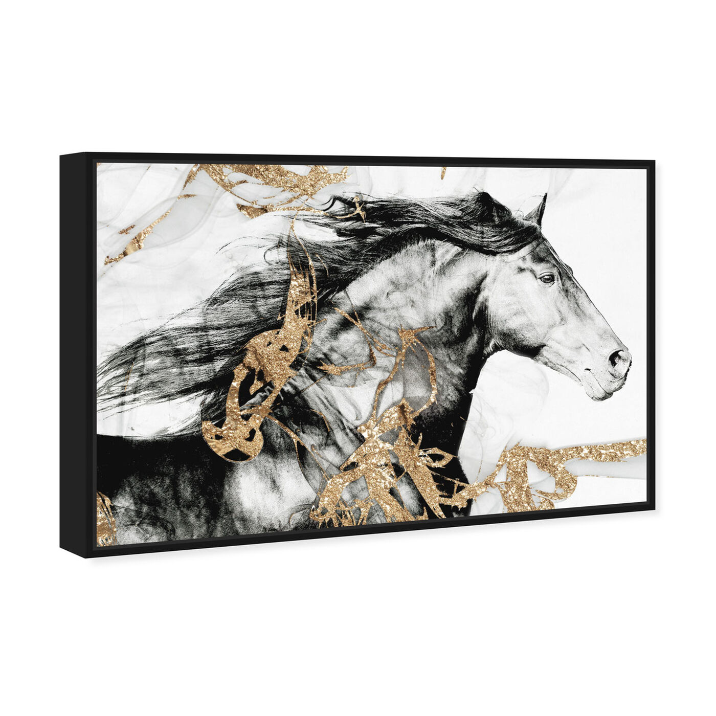 Angled view of Gold Beauty featuring animals and farm animals art.