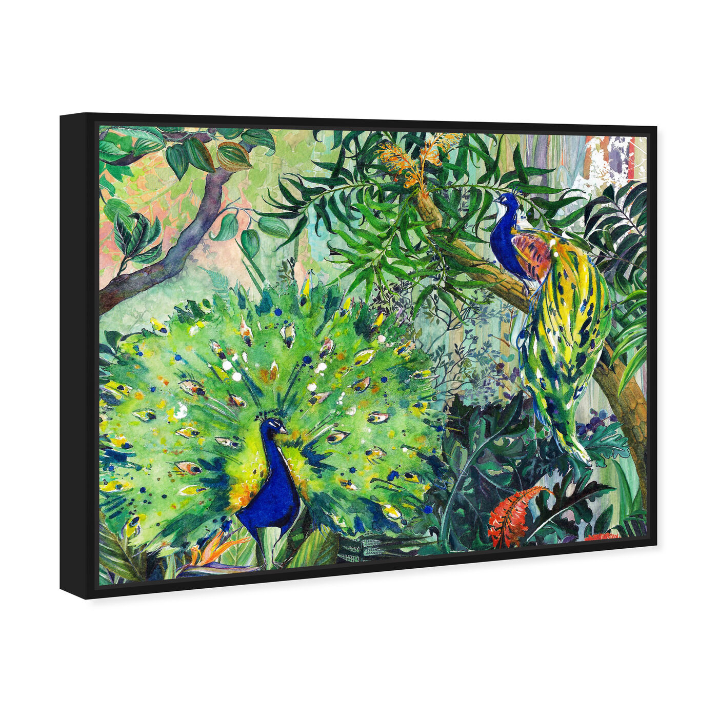 Angled view of Designing with Palms 2 featuring animals and birds art.