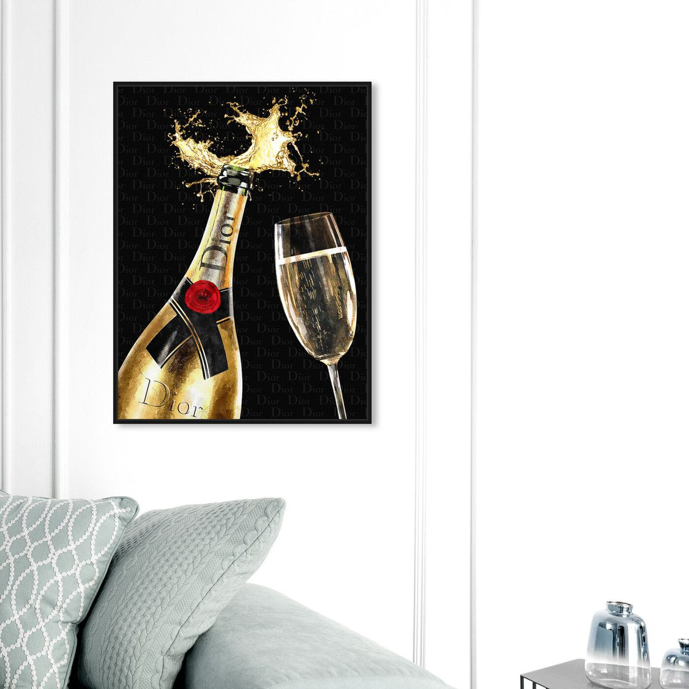 Hanging view of Get your drink on featuring fashion and glam and lifestyle art.
