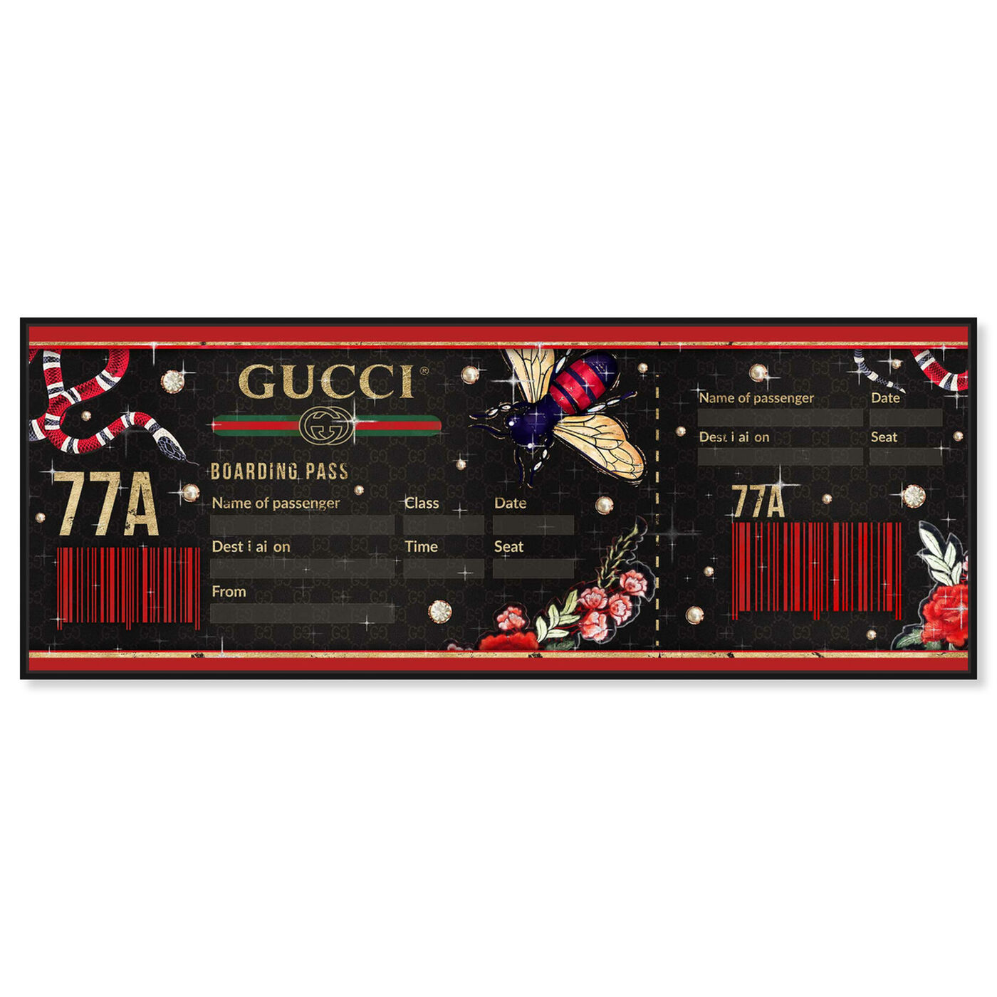 Front view of Ticket to Florence featuring world and countries and travel essentials art.