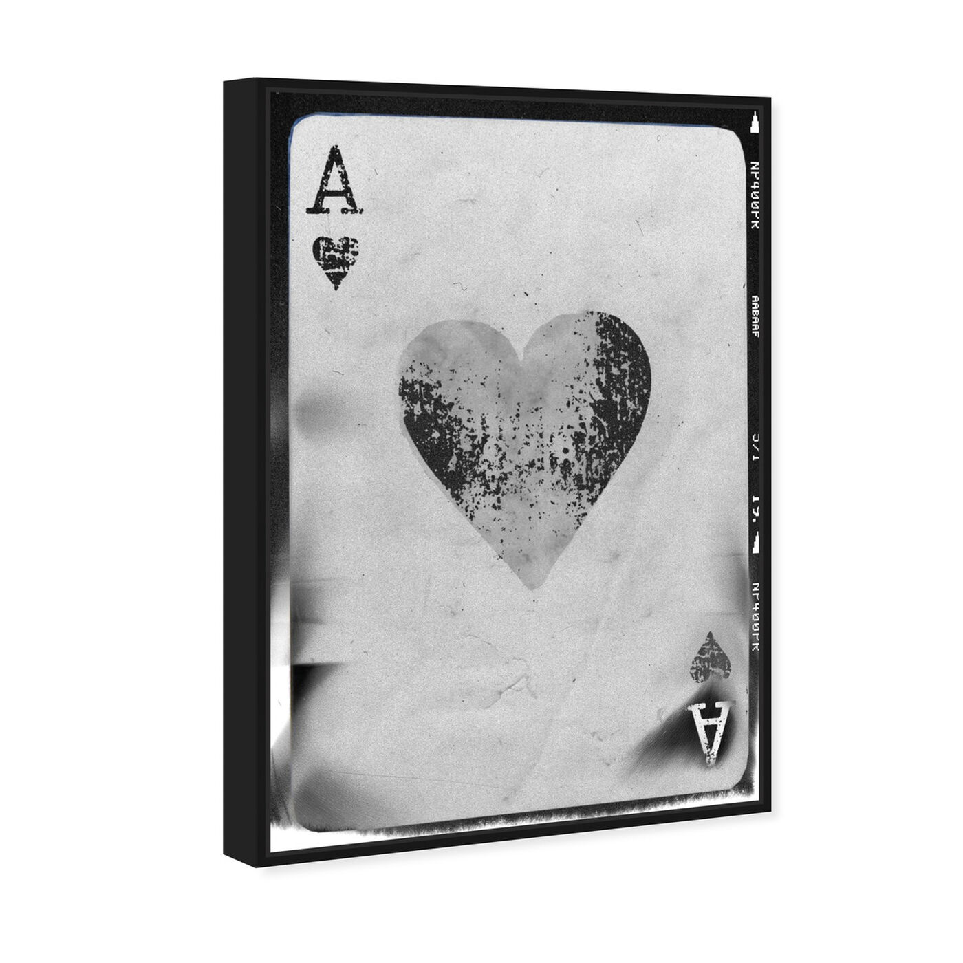 Angled view of Ace of Hearts Reversed featuring entertainment and hobbies and poker art.