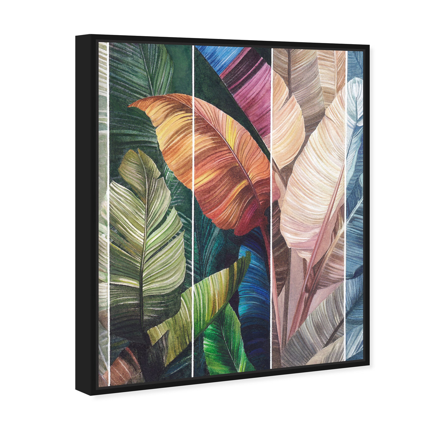 Angled view of Tropical Leaves Views featuring floral and botanical and botanicals art.