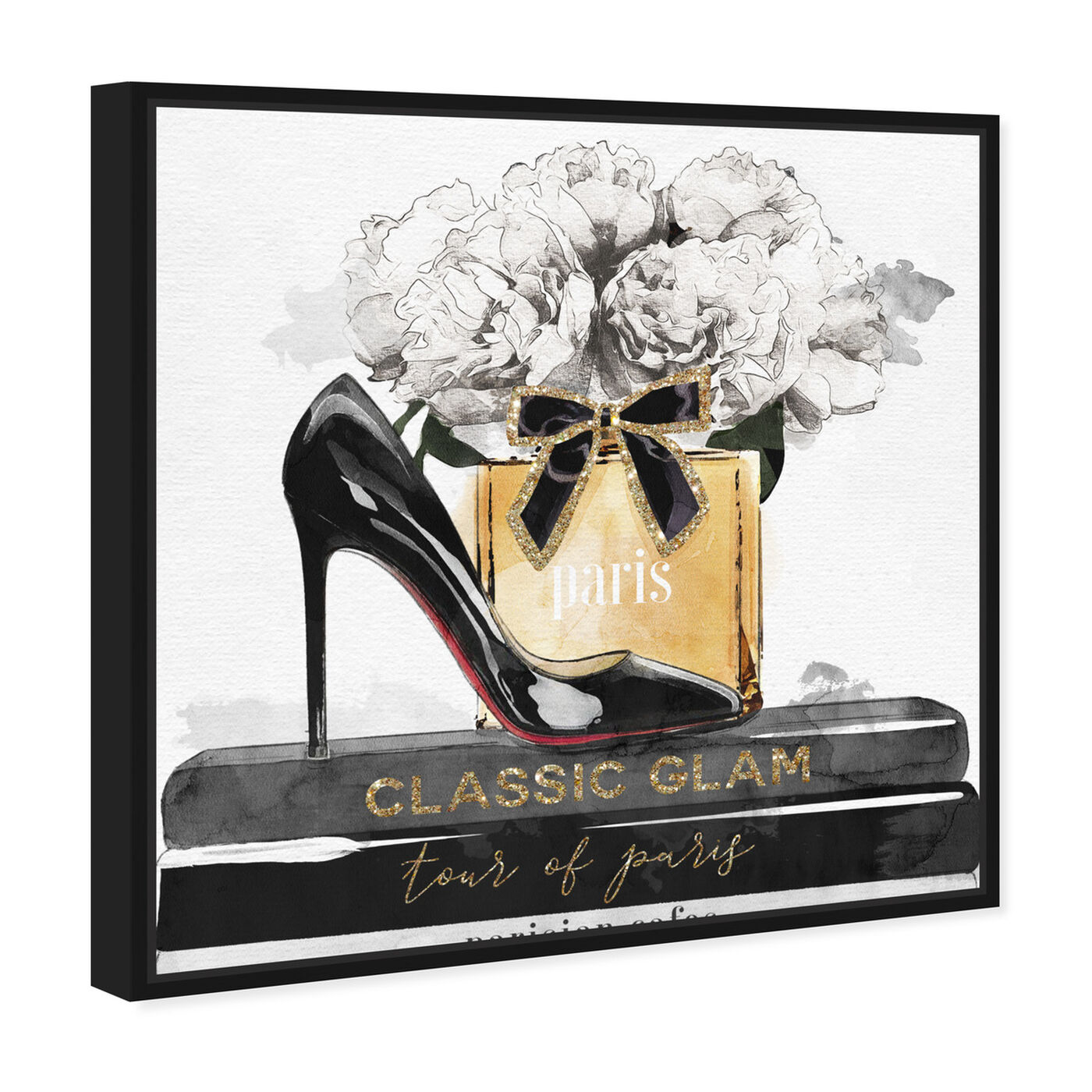 Angled view of Glamorous Stack featuring fashion and glam and shoes art.