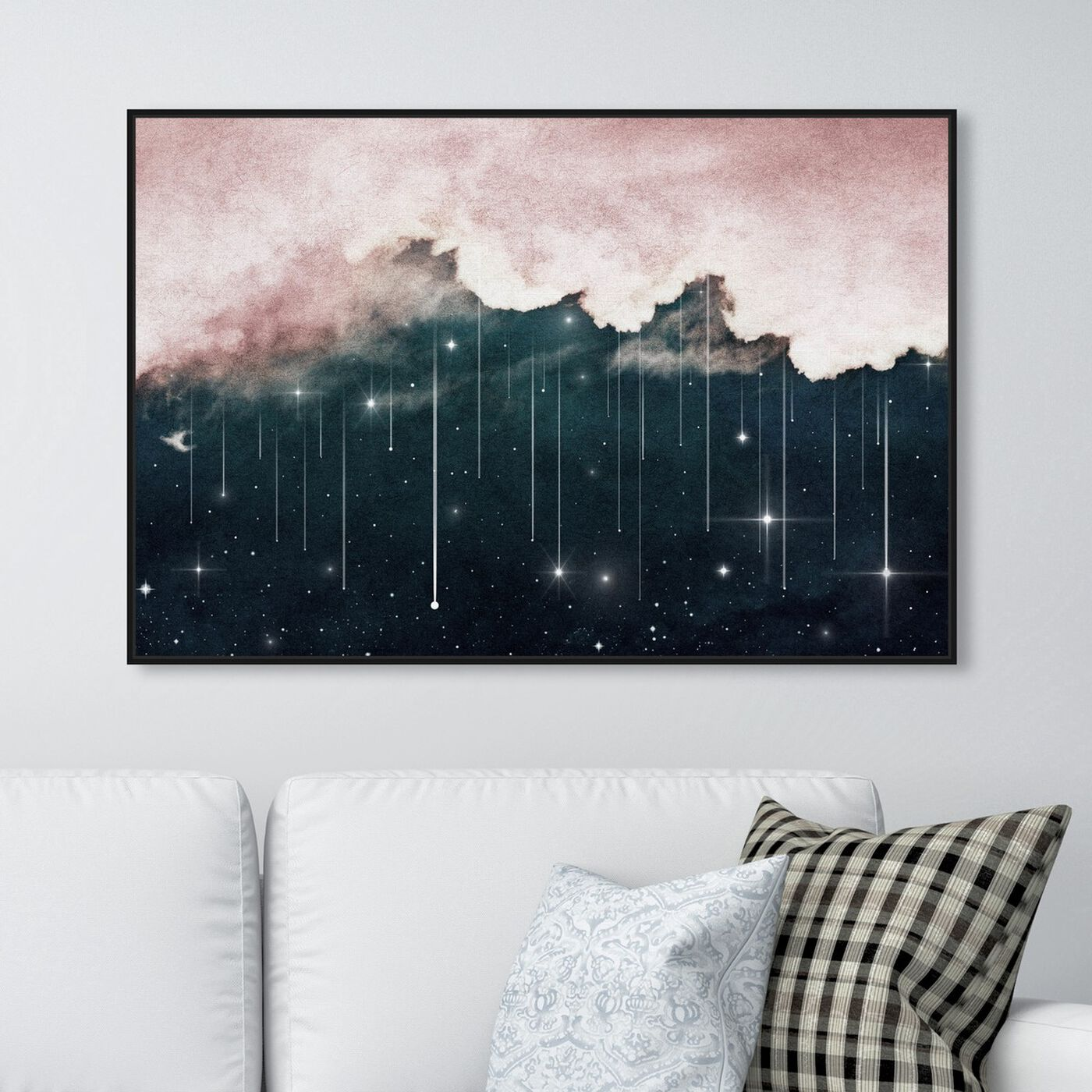 Hanging view of Starry Eyes Starry Night featuring nature and landscape and skyscapes art.