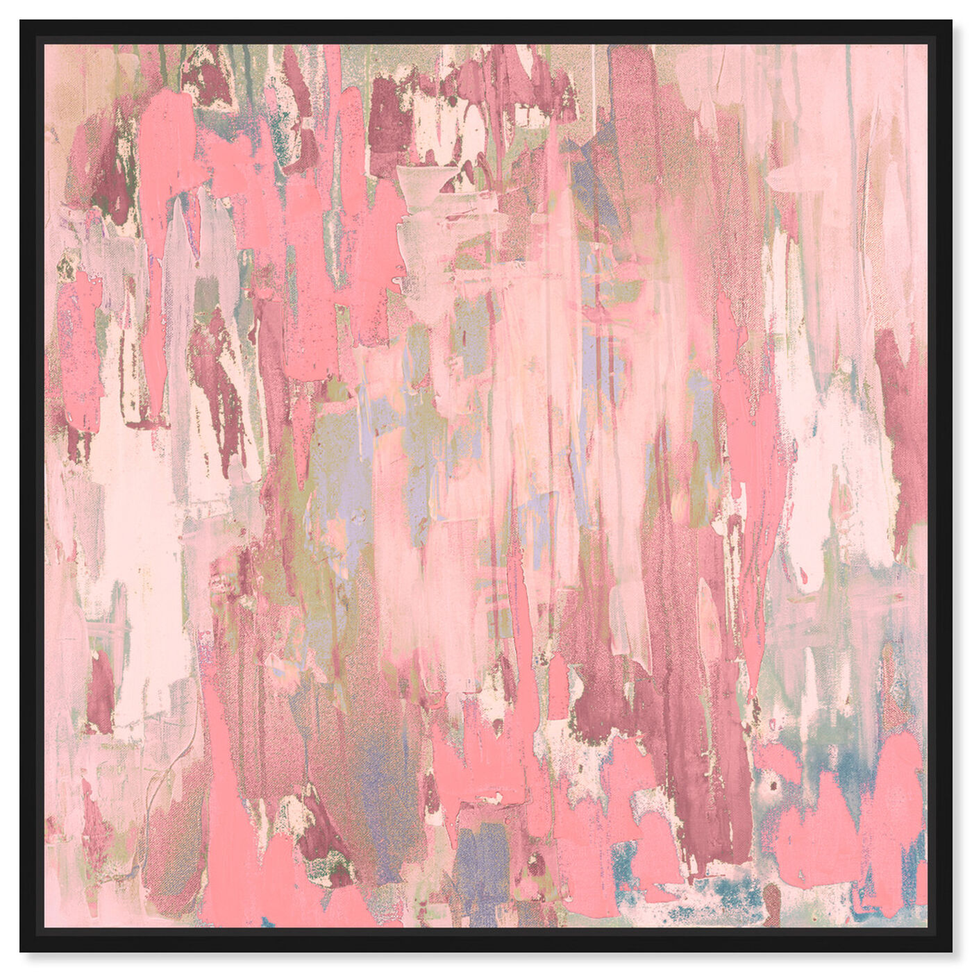 Front view of Marissa Anderson - Blush Swan Lake featuring abstract and paint art.
