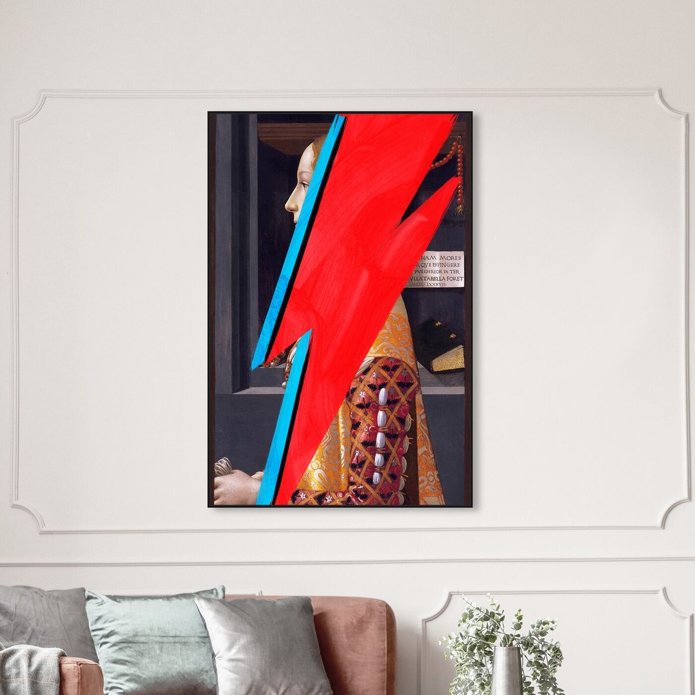 Hanging view of Ziggy featuring classic and figurative and classical figures art.
