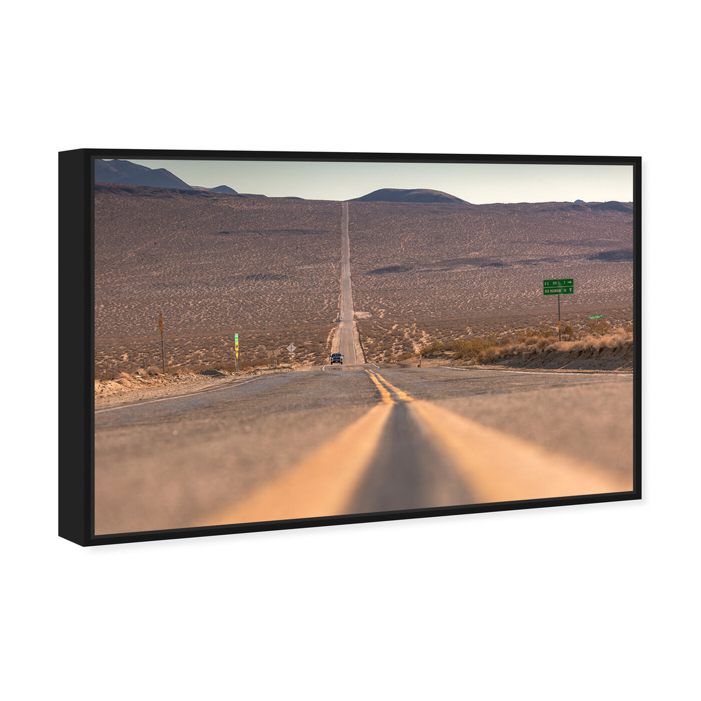 Angled view of Curro Cardenal - American Road featuring nature and landscape and desert landscapes art.