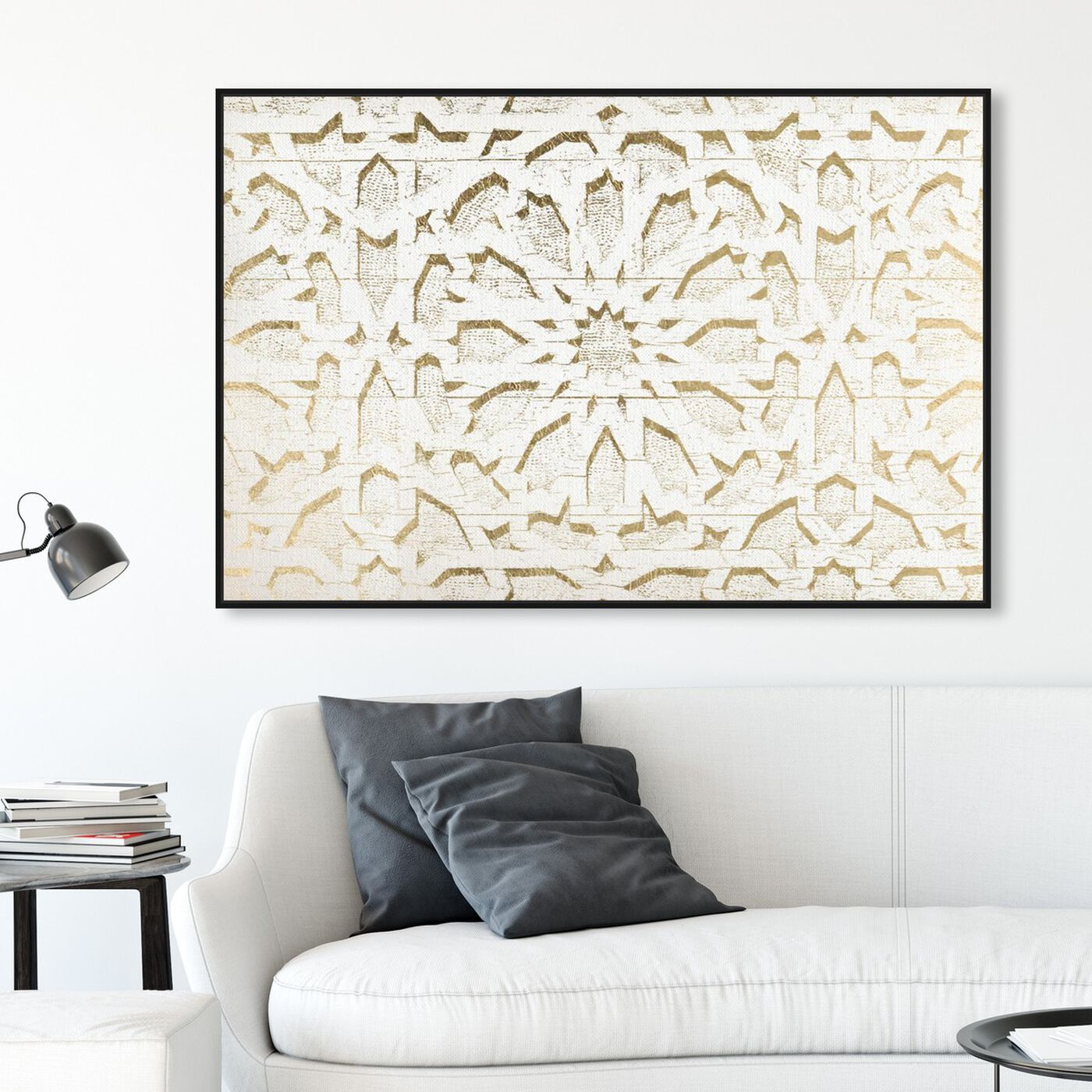 Hanging view of Casablanca featuring abstract and patterns art.