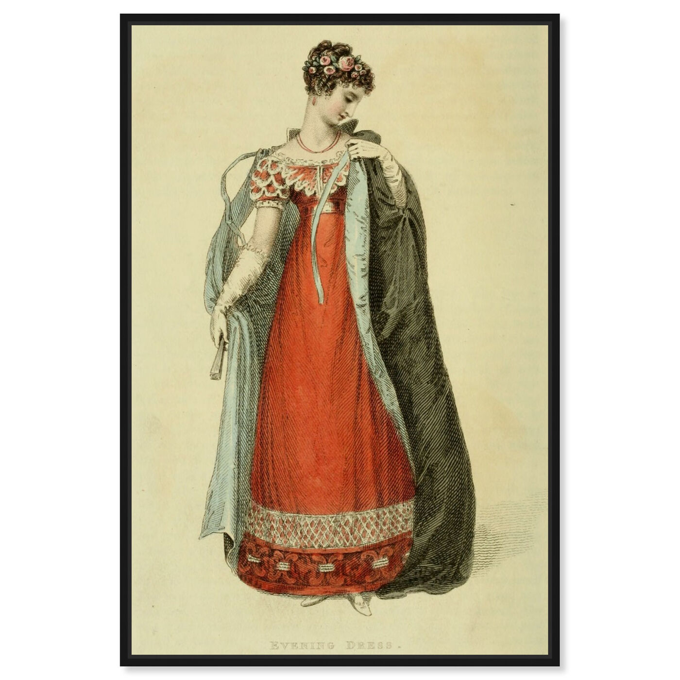 Front view of Evening Dress - The Art Cabinet featuring classic and figurative and realism art.