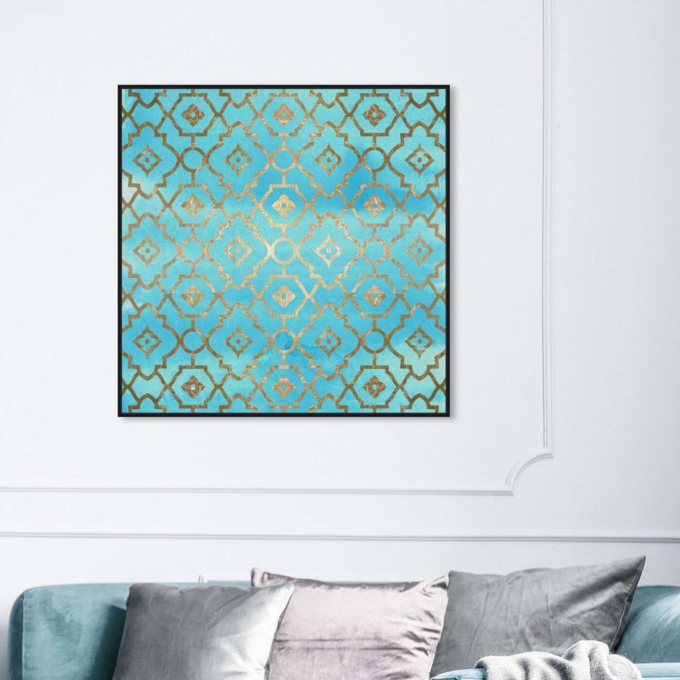 Hanging view of Sabina featuring abstract and patterns art.